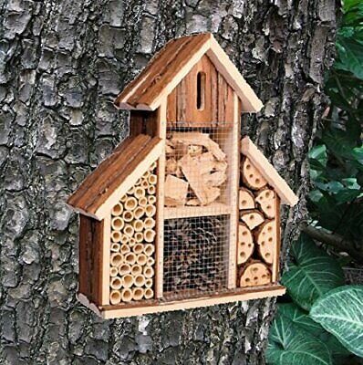 Heritage Wooden Insect Hotel Nest Home Bee Shelter Bug Garden Ladybird Box 2630