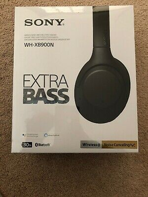 NEW Sony WH-XB900N Extra Bass Wireless Noise Canceling Headphones Black BT