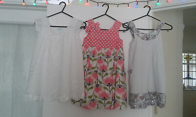 Girls Monsoon John Lewis Boutique Summer Fully Floral Flower Lined Dress Age 4 5