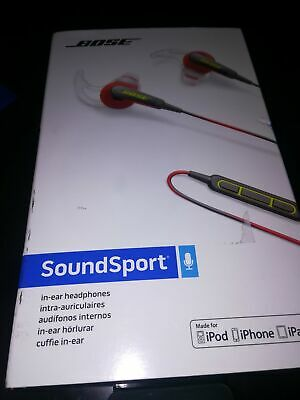 BOSE SOUNDSPORT IN-EAR HEADPHONE Wired Red color #11