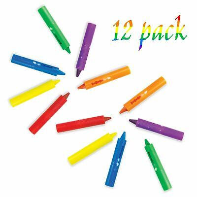 12 x BATH CRAYONS Washable Crayon Kids Baby Bath time Paints Drawing Pens Toy