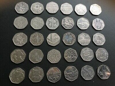 A Collection of 50p coins