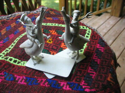 Vintage Chinese Figural Children Geese Ducks Statues Figurine Bookends