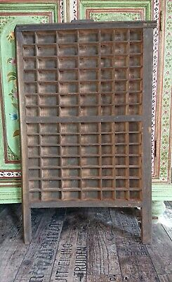 Vintage Printing Letterpress Typeface Drawer Wall Display Printer Tray Antique!