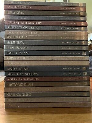 Vintage TIME-LIFE:  GREAT AGES OF MAN Complete 21 vol Set history HC EUC