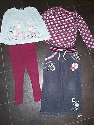 3-4 Years Girls Bundle Tops And Trousers tu george fairy
