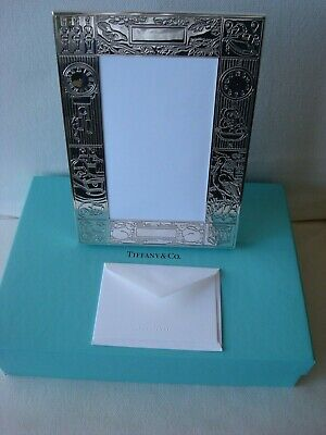 TIFFANY sterling silver ~ BABY CHILD BIRTH RECORD PICTURE FRAME ~ FABULOUS!!