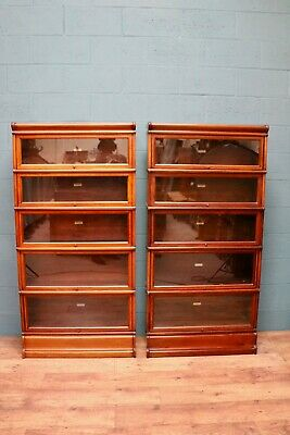 Matching Pair of Globe Wernicke Stacking Bookcases (100802)