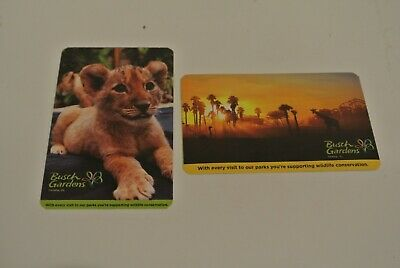 (2)  BUSCH GARDENS TAMPA 1-DAY PASSES - Expires JULY 13,2020