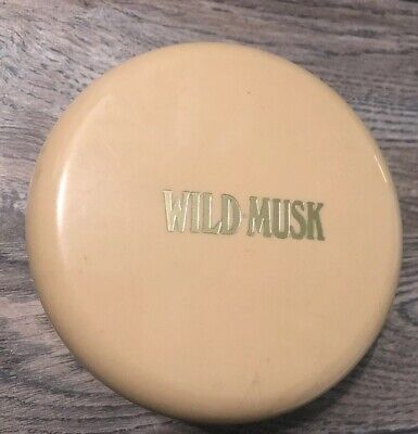 Vintage Coty Wild Musk Dusting Powder 4 Oz No Box Discontinued Retired