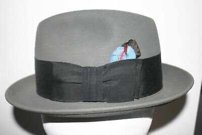 Vintage Mens Dobbs Ny Fedora Hat Grosgrain Band With Hat Box