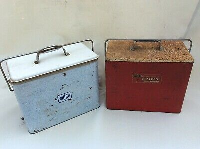 2x Vintage Esky's Willow/Malleys Retro 1970s Coolers