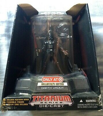 2006 Hasbro Micro Machines Star Wars Darth Vader Titanium Series Die Cast Figure