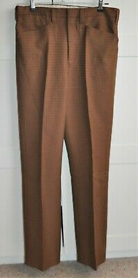 Vintage 50's 'Crimplene' Mens Slim Leg Trousers