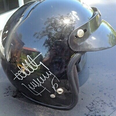 SUPERCAR RIDE DAY BLACK HELMET HANDSIGNED  by BOTH TODD & RICK KELLY WELL USED