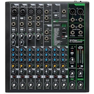 Mackie ProFX10v3 10-channel Compact Mixer with USB and Effects