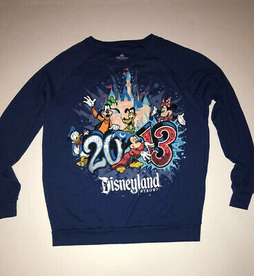 Disney Parks 2013 Disneyland Resort Mickey Minnie Goofy  Sz. XL Crew Sweatshirt