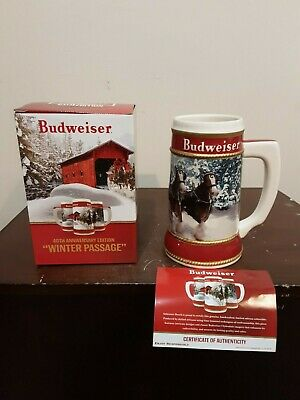New 2019 Budweiser Limited Edition Winter Passage Clydesdale Holiday Beer Stein