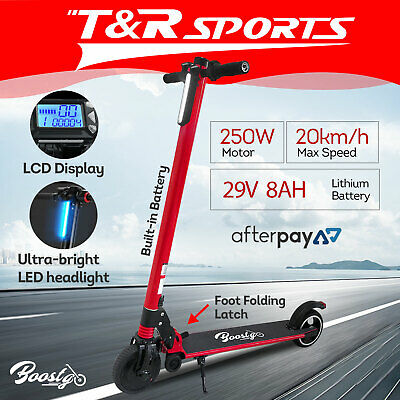 BOOSTGO S8 Folding Electric Scooter 6.8 inch Solid Tires Long Range Battery Red
