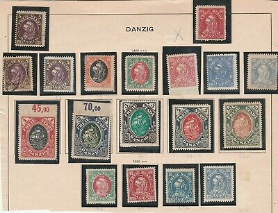 Lot  Germany 12 Danzig 12  NH, yellow stain Diff. Cond.