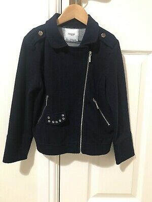 Mayoral Girl's Navy Jacket Size T7 (122cm Height) Age 6/7 Years