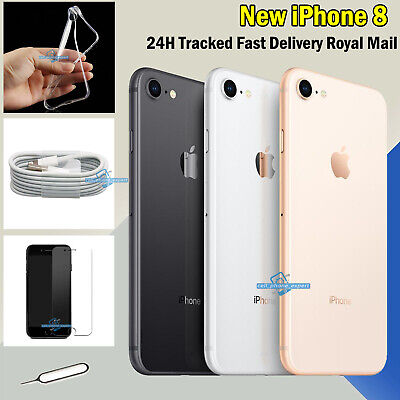 64GB  256GB New Apple iPhone 8 Sim Free Smartphone Unlocked All Colours Gold UK