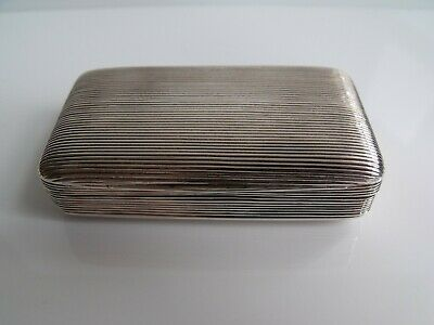 Superb George 111 Silver Snuff Box, London 1805, John Death