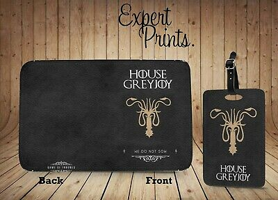 Game Of Thrones House Sigil Greyjoy New Printed Passport Cover Luggage Tag P147