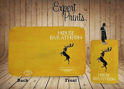 Game Of Thrones House Sigil Baratheon Printed Passport Cover Luggage Tag P146