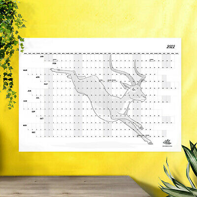 2020 Wall Calendar Year Planner Large A1 Size with Impala Artwork