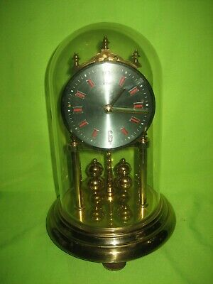 Vintage  anniversary  clock by Hermle Germany with Dome