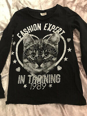Girls Next Sparkle Black Top Age 12 Years