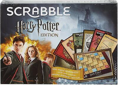 Harry Potter Edition Scrabble Board Game Hogwarts Cards Fun Family Game Play