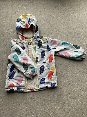 Mini Boden Girls Shaggy Lined Coat Age 5-6