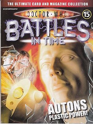 Doctor Who Battles In Time Magazine No 15 Autons Plastic Power !