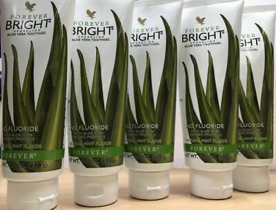5X Forever Living Bright Tooth Gel Natural Mint Flavour Aloe VeraToothpaste