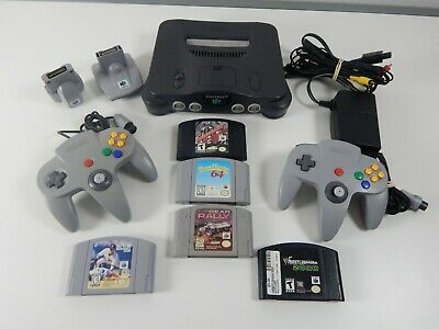 Nintendo 64 N64 Console Bundle w/5 games 2 Controllers All Cords. Fully Tested.