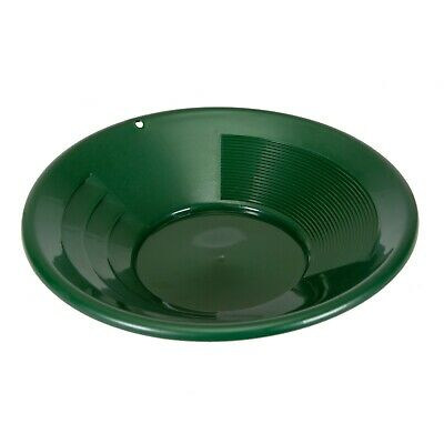 "SE 8"" GREEN Plastic Gold Pan w/ Shallow & Deep Riffles for Gold Prospecting"