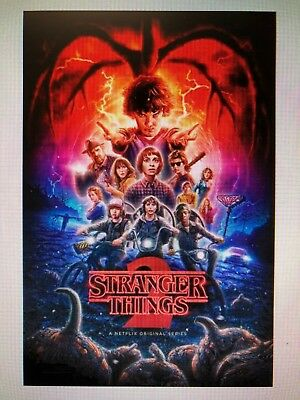 Stranger Things 2 Poster 24X36 Netflix Tv Series Winona Ryder Duffer Brothers!!!