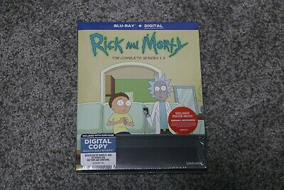Rick and Morty: The Complete Seasons 1-3 Blu-ray Disc Digitial Free Poster