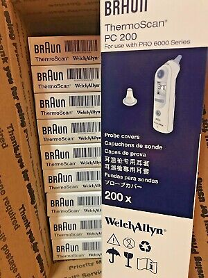 LOT 0f 10 BRAUN THERMOSCAN Probe Covers PC 200 for PRO 6000 SERIES NEW