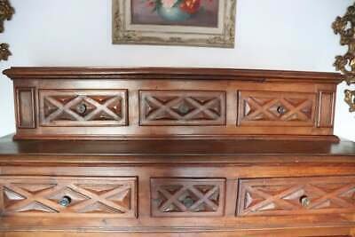 17th Century  Walnut Wood Large Rustic Sideboard, Buffet or antique Credenza