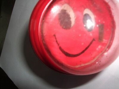 New 6 Soft Press Bicycle/Bike Horn  Red Smiley Face