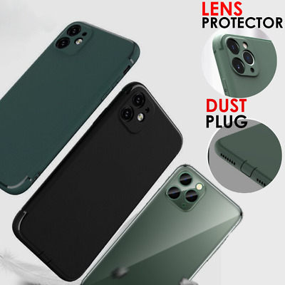 Ultra Thin Case For iPhone 11, 11 Pro Max + Lens Cover & Glass Screen Protector
