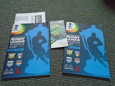 Rugby League World Cup 2013 Group C&D X 2 Issues +Team Sheet +Spectator Guide 15