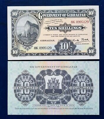 Gibraltar 10shilling/ 50cents 1934(2018) - P-new - UNC
