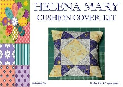 "Patchwork Kit Complete Cushion Cover Kit - Spring Ohio Star - 14.5"" Sq"