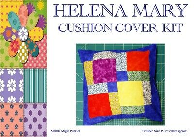 "Patchwork Kit Complete Cushion Cover Kit - Marble Magic Puzzler - 15.5"" sq"