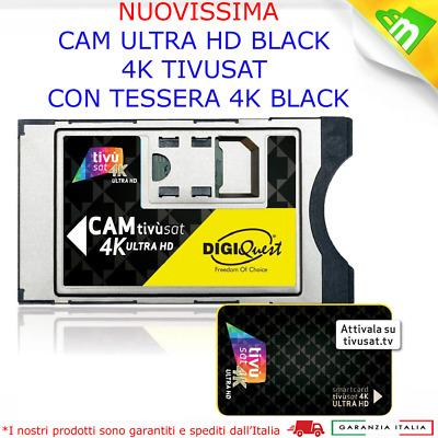 Cam tivusat 4k Ultra HD Nuovo Modulo Cam Tv sat 4k con smart card Nera