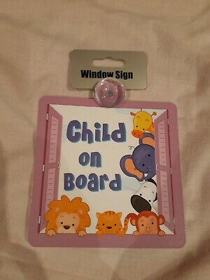 Child On Board.  Car Window Sign.  New